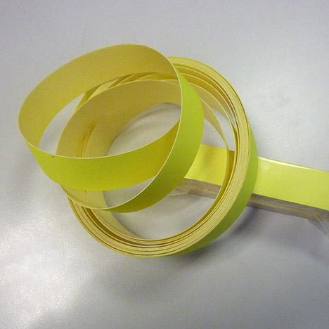 Reflex-Band zum Aufkleben, fluoreszierend gelb