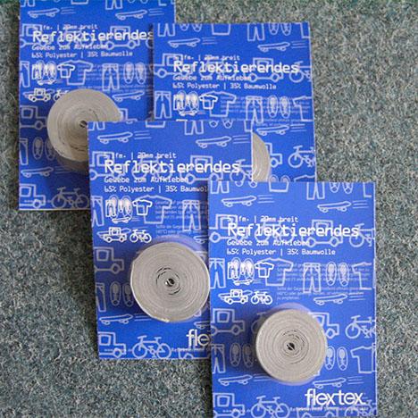 Reflex-Band zum Aufkleben, silber